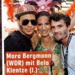 WDR Moderatorin Mara Bergmann im Kostüm von Kostümkunst in der Bildzeitung